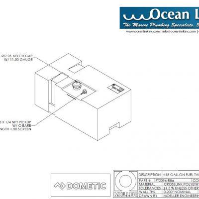 Moeller 22 Gal #031626 Boston Whaler Montauk Above Deck Fuel Tank