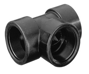 1 1/2″ Threaded Tee, Polypropylene