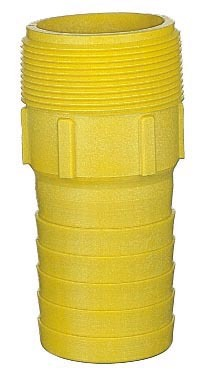 "1 1/2"" Pipe to Hose Nipple, Nylon"
