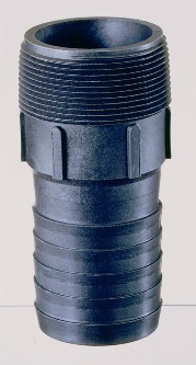 "1 1/2"" Pipe to Hose Nipple, Polypropylene"