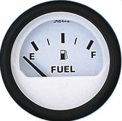 Faria Fuel Level Gauge - White Face