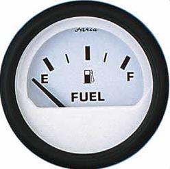 Faria Fuel Level Gauge - White Face