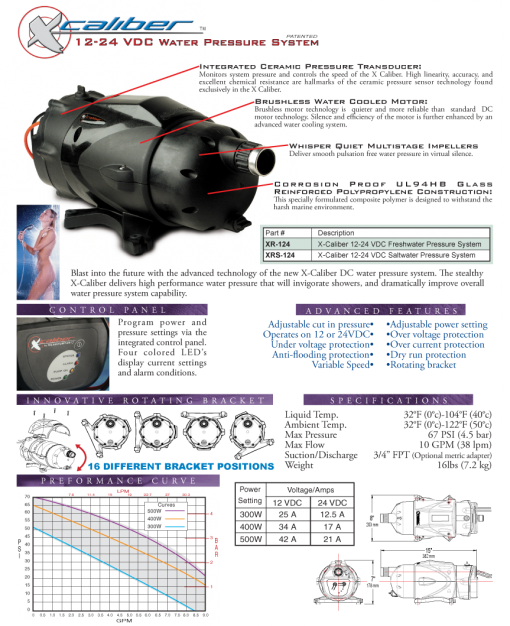 X-Caliber pressure pump