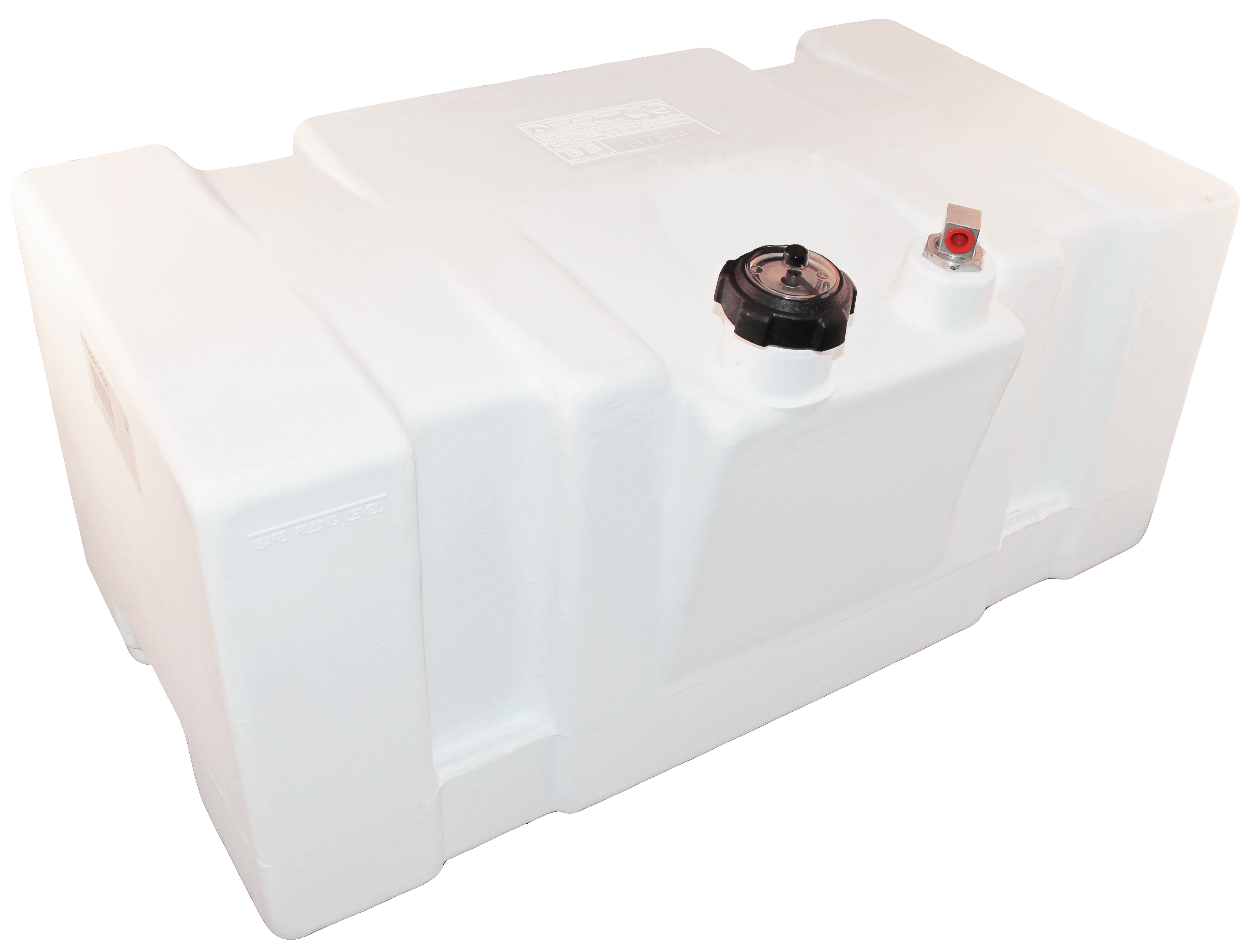 22 Gallon White Topside Fuel Tank