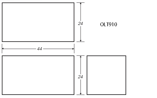 100 Gallon Rectangular Shaped Waste/Water Tank, 44″x24″x24″, OLT910