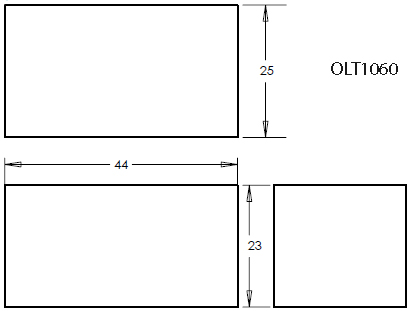 98 Gallon Rectangular Shaped Waste/Water Tank, 44″x25″x23″, OLT1060