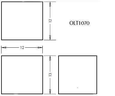 7 Gallon Rectangular Shaped Waste/Water Tank, 13″x12″x12″, OLT1070