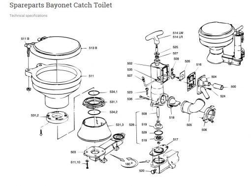 Raske Bayonnet Toilet Schematic