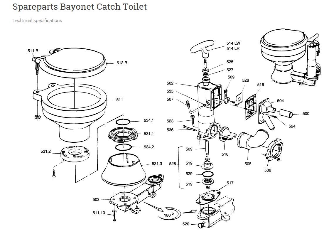 RM69 Toilet Rebuild Kit, #530